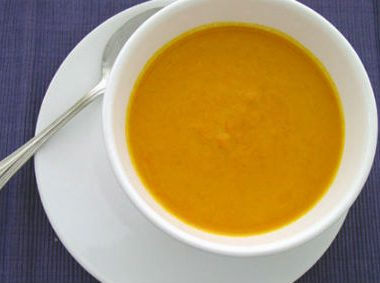 Carrot Ginger Soup 380x283 - Tomato Soup with Garlic and Basil