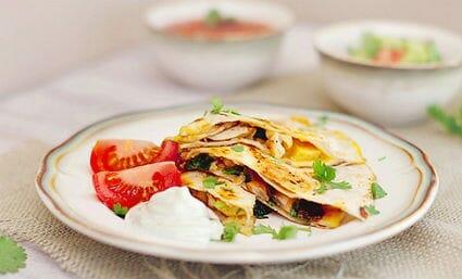 Chicken and Mushroom Quesadillas