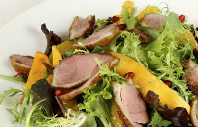 Duck and Kiwifruit Salad