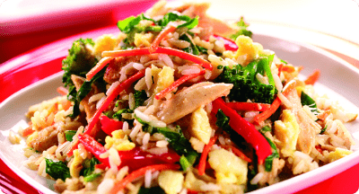 Egg Fried Rice with Vegetables