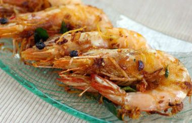 Ginger Garlic Prawns 380x244 - Ginger Garlic Prawns
