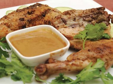 Grilled Chicken Peanut Sauce 380x284 - Mango Chicken