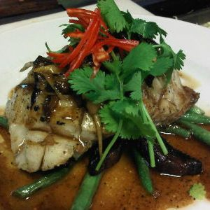 Grilled Fish with Ginger Sauce