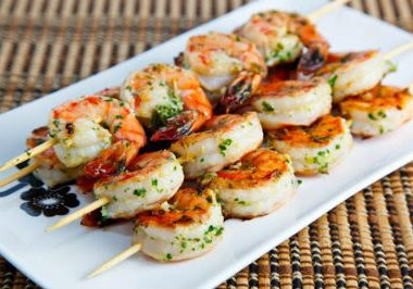 Grilled Shrimp Skewers 380x266 - Vanilla Cupcakes
