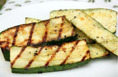 Grilled Zucchini 380x250 - Grilled Zucchini with Lemon and Garlic