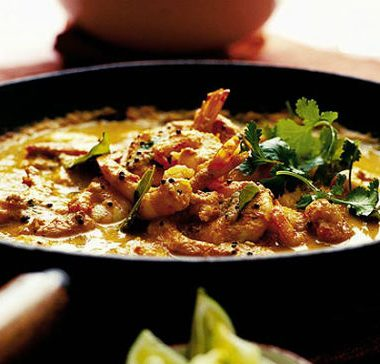 Kerala Prawn Curry 380x364 - Prawn Curry with Coconut Milk