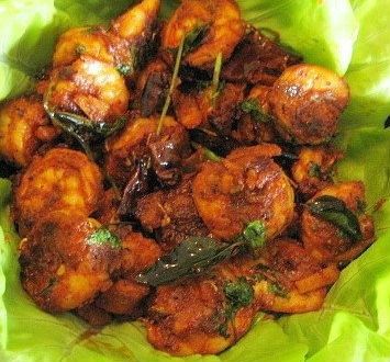 Malabar Shrimp Fry - Curried Vegetable Stew