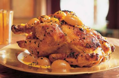 Roast Chicken Lemon Sauce 380x250 - Roast Chicken with Lemon Sauce