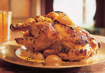 Roast Chicken with Lemon Sauce