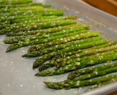 Roasted Asparagus - Raspberry Coulis