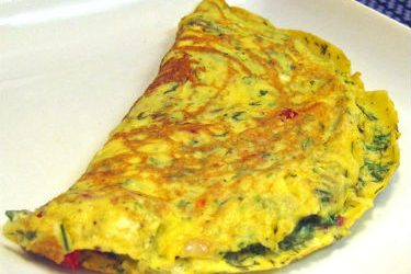 Roasted Tomato Herb Omelette 375x250 - Roasted Tomato and Herb Omelette