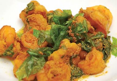 Shrimp Curry Leaves 380x265 - Ganesh Chaturthi Special