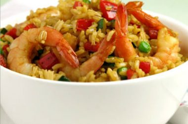 Shrimp Fried Rice 380x250 - Shrimp Fried Rice With Cabbage