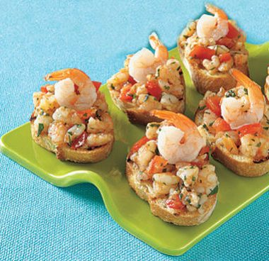 Shrimp bruschetta 380x368 - Masala Fish Fingers