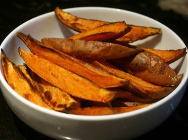 Spicy Sweet Potato Wedges 380x283 - Peach Mimosa