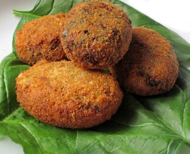 Spinach Cutlet 380x308 - Cheera (Red Spinach) Cutlet