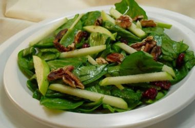 Spinach Green Apple Salad 380x250 - Spinach and Green Apple Salad