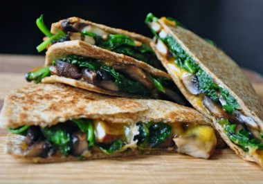 Spinach Mushroom Quesadillas 380x266 - Delicious Dessert Ideas for Christmas