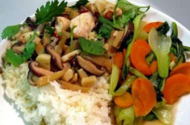 Stir fried Fish Mushrooms Ginger 380x250 - Stir-fried Fish with Mushrooms and Ginger