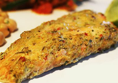 Tandoori Salmon 380x266 - Shrimps in Coconut