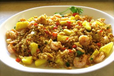 Thai Shrimp Fried Rice Pineapple 375x250 - Thai Shrimp Fried Rice with Pineapple