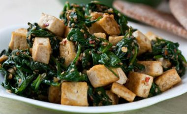 Tofu Spinach Stir Fry 380x231 - Tofu and Spinach Stir-Fry