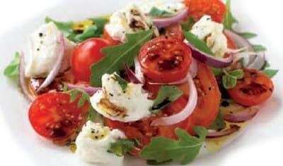 Tomato, Red Onion and Mozzarella Salad