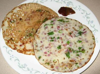 Uthappam3 380x280 - Mint and Spinach Seedai