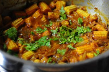 baby corn masala 380x250 - Egg and Baby Corn Masala