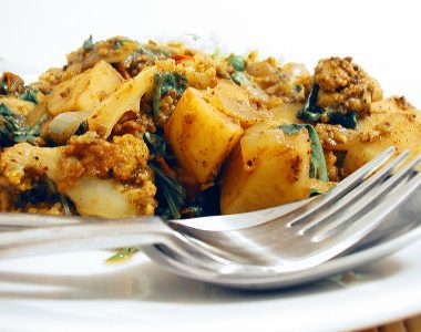 bengali aloo 380x300 - Green Beans with Coconut