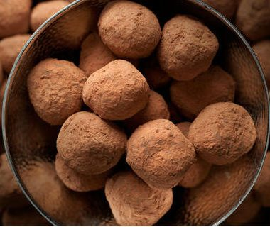 bittersweet chocolate truffles 380x320 - New Orleans Gin Fizz