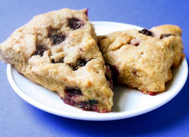 blueberry scones 380x275 - Fruit Bruschetta