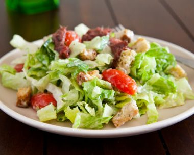 caesar salad 380x304 - Anchovy and Olive Salad