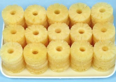 canned pineapple slices 380x270 - Mixed Dal Sakkarai Pongal