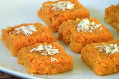 Carrot Coconut Burfi