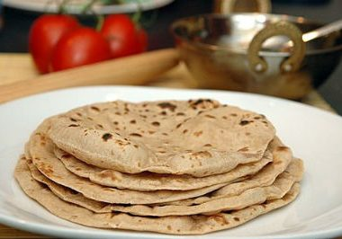 chapati roti3 380x266 - Spicy Chickpeas with Potatoes
