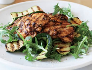 chicken grilled zucchini 380x289 - Grilled Prawns with Garlic and Paprika