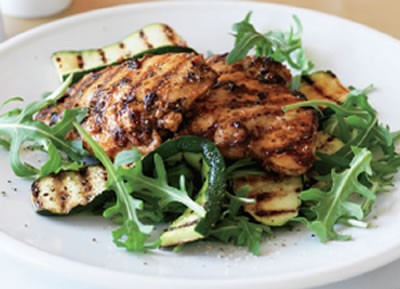 Chicken with Grilled Zucchini