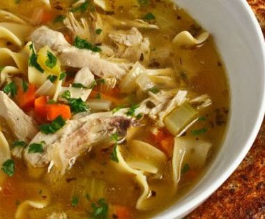 chicken noodle soup 380x313 - Chettinad Ginger Chicken