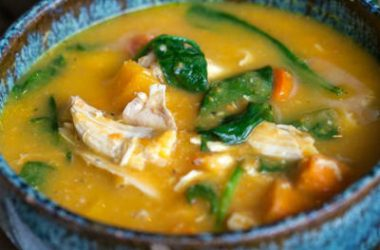 chicken squash soup 380x250 - Squash and Chicken Soup
