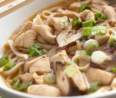 chicken udon soup 380x320 - Chicken Udon Soup