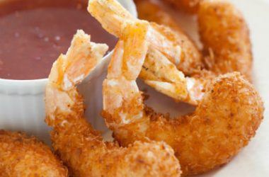 coconut shrimp sauce 380x250 - Crispy Coconut Shrimp with Honey Sauce