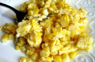 corn and eggs 380x250 - Scrambled Eggs with Sweet Corn