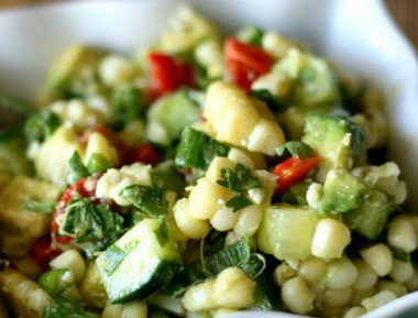 corn avocado salad 380x289 - Lamb Boti