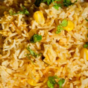 Tomato and Corn Biryani
