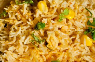 corn biryani 380x250 - Tomato and Corn Biryani