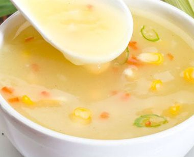 corn soup 380x307 - Cheese and Apple Toast