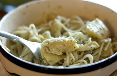 Creamy Chicken Pesto Pasta
