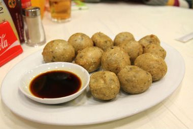 crispy fried fish balls 380x254 - Papaya Shrimp Fritters
