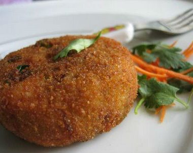 cutlet1 380x300 - Brinjal and Corn Curry